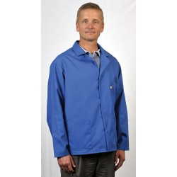 Tech Wear - 361ACS-M - ESD-Safe Short Coat, Blue, Size Medium