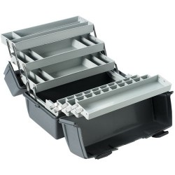 Flambeau - 19060-2 - Cantilever-Tray Tool/Parts Box, 6 Trays, 35 Compartments