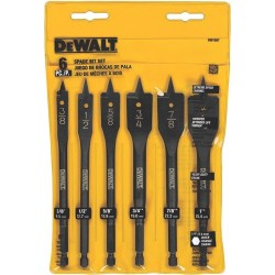 "Dewalt - DW1587 - 6 Piece Heavy Duty Wood Boring Bit Set, 3/8"" to 1"""