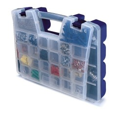 Akro-Mils / Myers Industries - 06118 - Akro-Mils Portable Organizer - External Dimensions: 13.4 Width x 18.3 Depth x 3.6 Height - Latching Closure - Blue, Clear, Black - For Multipurpose - 1 Each
