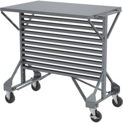 Akro-Mils / Myers Industries - 30812 - 38-1/2 x 24 x 36-1/2 Mobile Double Sided Pick Rack with 250 lb. Load Capacity, Gray