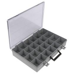 Flambeau - 1024-2 - Compartment Box, Gray, 3H x 13L x 18-1/2W, 1EA