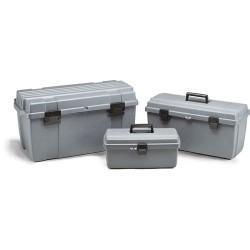 Flambeau - 17800-2 - Copolymer Portable Tool Box, 7-1/8H x 16-5/8W x 8-3/4, Gray