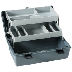 Flambeau - 18090-2 - Cantilever-Tray Tool/Parts Box, 2 Trays, 8 Compartments