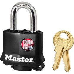 Master Lock - 311D - Laminated Steel Pin Tumbler Padlock Black Cover