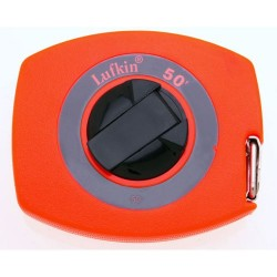 Lufkin - 50 - 50 ft. Steel SAE Long Tape Measure, High Visibility Orange