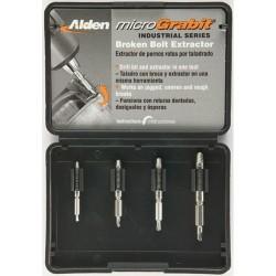 Alden - 4507P KIT - 4pc Micrograbit Broken Bolt Extractor Kit