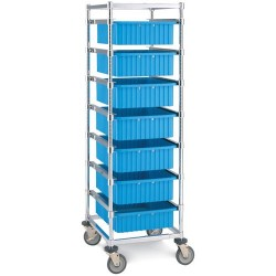 Metro (InterMetro) / Emerson - APT1C-5MP - Adjustable Single Bay Tote Cart with Polyurethane Casters