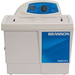 Branson Ultrasonics - M3800H - Ultrasonic Cleaner with Mechanical Timer Plus Heater, 1-1/2 Gallon