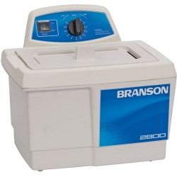 Branson Ultrasonics - M2800H - Ultrasonic Cleaner with Mechanical Timer Plus Heater, 3/4 Gallon