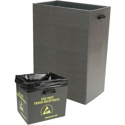 Protektive Pak / Desco - 37812 - Trash Receptacle with Handles & Wire, 22-7/8 x 12-7/8 x 32 IN, 58.1 x 32.7 x 81.3 CM