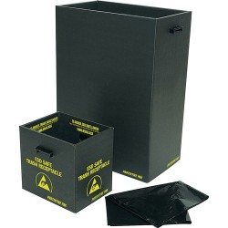 Protektive Pak / Desco - 37810 - Trash Receptacle with Handles & Wire, 13-1/2 x 12 x 13-1/4 IN, 34 x 30 x 33 CM