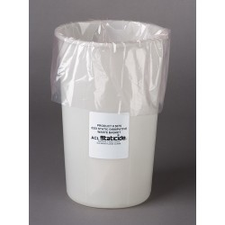 ACL Staticide - 5075 - ACL 5075 ESD Static-Dissipative Waste Basket, 11 gal, White
