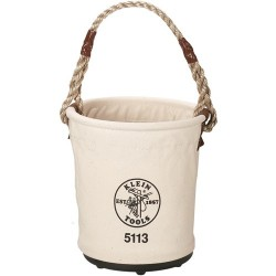 Klein Tools - 5113 - Tapered Wall Bucket, Natural #6 Canvas
