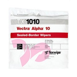 Texwipe - TX1010 - Vectra Alpha 10 Sealed-Border Wipers, 9 x 9, 100/Bag
