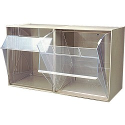 Quantum Storage Systems - QTB302I - 2 Bin Clear Tip-Out Bin System