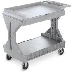 "Akro-Mils / Myers Industries - 30936 - Akro-Mils ProCart Utility Cart - 400 lb Capacity - Plastic Foam - 45"" Width x 24"" Depth x 35"" Height - Gray"