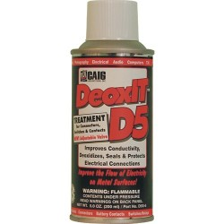 CAIG Labs - D5S-6 - CAIG Laboratories P 60th Anniversary DeoxIT D5 Spray with New Perfect Straw