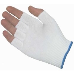 Protective Industrial Products (PIP) - 40-732/L - 100% Nylon Seamless Knit Glove Liner, Half-Finger, Size Large, 12 Pair/Pkg.