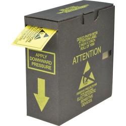 Desco - 06735 - Attention Label w/ Dispenser Box, RS-471, 2 x 2, 1000/Roll