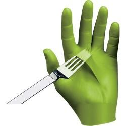 Showa Best Glove - 7705PFT 09 - Glove Textured Ndex Free Powderfree Nitrile Large 9.5 In L 4 Mils Best Mfg, 100/BX