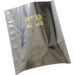 3M - 70068 - Esd Bag 6w X 8l 3.6 Mils Layered Metallized Polyester Black Moisture Barrier 3m Dri-shield 2000, Pk