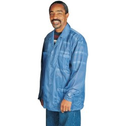 Desco - 73741 - Blue Unisex ESD-Shielding Jacket with Snap Cuffs, 3X-Large