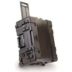 SKB Cases - 3R2217-10B-CW - SKB 3R Roto Molded Waterproof Case - Internal Dimensions: 22 Width x 10.50 Depth x 17.50 Height - 17.50 gal - Latching Closure - Polyethylene - Black - For Military