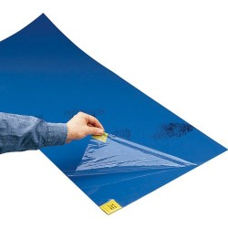 Other - CRP0430-2 - Adhesive Tacky Entrance Mat, 18 x 45 (30 Sheets/Mat), Blue, 4/Mats per Case