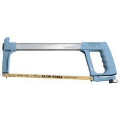 "Klein Tools - 701-S - Klein Tools Dual-Purpose Hacksaw - Golden Tri-Cut 3-in-1 Blade - 16"" Length - Aluminum - 1.45 lb - Adjustable Tension - 1 Each"