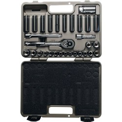 "Cooper Tools / Crescent - CTK30SET - 3/8"" Metric and SAE Chrome Socket Wrench Set, Number of Pieces: 30"