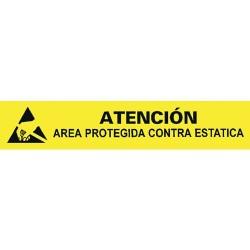 Desco - 06752 - ESD Protective Symbol Bench Sign, Spanish, 1 x 6