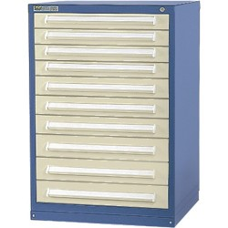 Vidmar - Sep2012al - 44x30x27-3/4 10 Drawer Cabinet Vidmar