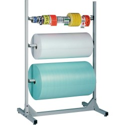 IAC Industries - QS-00230-8302 - Packaging Roll Storage Floor Stand with 3-Spindles, Size: 50 L x 72 H