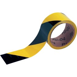 Brady - 55302 - Brady 2' X 18 Yd Black/Yellow 6 mil Vinyl Warning Barricade Tape, ( Roll )