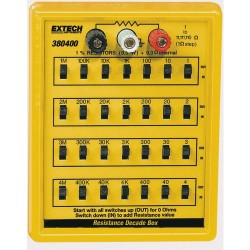 Extech Instruments - 380400 - Resistance Decade Box, 1% Resistance substitution from 1 to 11, 111, 110