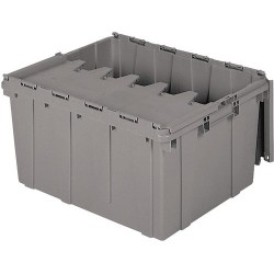 Akro-Mils / Myers Industries - 39175 - Attached Lid Storage Container, 24 x 19-1/2 x 12-1/2