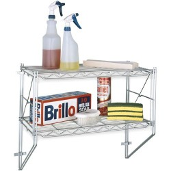 Metro (InterMetro) / Emerson - 12WS32C - Chrome Wall Shelf Kit Metro
