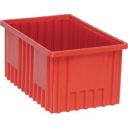 Quantum Storage Systems - DG92080 - -RED DIVIDABLE GRID TOTE 16.5x10.7/8x8 (MOQ=8)