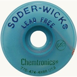 Chemtronics - 40-3-10 - Desoldering Braid, Soder-Wick, Lead Free, Static Dissipative Bobbin, Copper, 0.08 x 10 ft