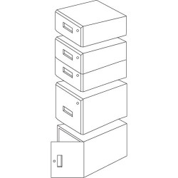Iac Industries - Qs-1050004-bl - Qs Wm 12 Drawer Assy Eze Blue (each)