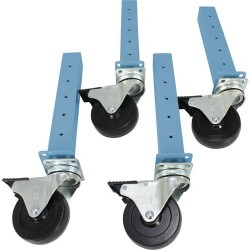 Iac Industries - Qs-1050509-d - Qs Sb Leg Ext Cster Set 4 Caster Sky Bl (each)