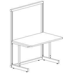 Production Basics - 1011 - 36x72 Workstation White Frame Std Lam Top