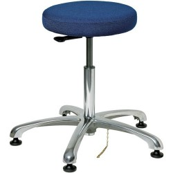 Bevco Precision - 3350E-F - ESD-Safe Stool, Navy Blue, Height Adjustable 18-1/2 - 26