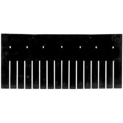 "Akro-Mils / Myers Industries - 42220 - Divider, Black, Industrial Grade Polymer, 20-3/8"" Length, 9-2/5"" Height"