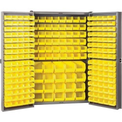 Akro-Mils / Myers Industries - HD4824F - Cabinet w/Louvered Panels on Back and Doors with 228 Bins