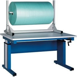 IAC Industries - QS-00230-8312 - Tabletop Packaging Roll Storage Stand with 1-Spindle, Size: 50 L x 30 H