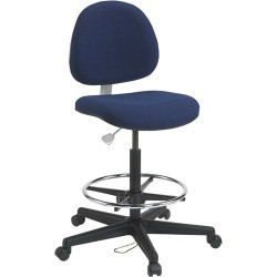 Bevco Precision - V850SMG - Fabric Ergonomic Chair with 23 to 33 Seat Height Range and 300 lb. Weight Capacity, Navy