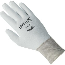 Ansell-Edmont - 11-600-9 - HyFlex Precision 11-600 Gloves - 9 Size Number - Large Size - Nylon, Polyurethane - White - For Packaging, Assembling, Inspection - 2 / Pair