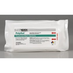 Texwipe - TX1051 - PolySat Polypropylene Presaturated, 70% IPA/ 30% DI Wipes, 9 x 11, 24 Flexpacks/Case (50 Wipes/Flexpack)
